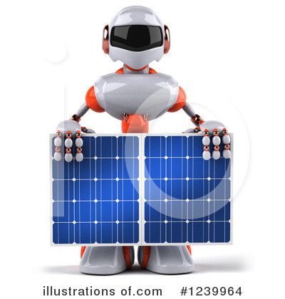 White And Orange Robot Clipart #1239964 by Julos