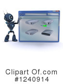 Robot Clipart #1240914 by KJ Pargeter