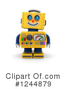 Robot Clipart #1244879 by stockillustrations