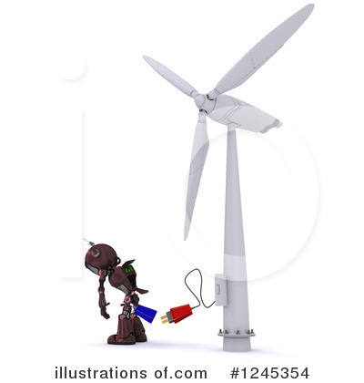 Wind Turbine Clipart #1245354 by KJ Pargeter