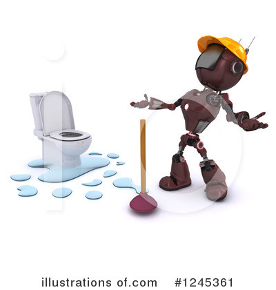 Royalty-Free (RF) Robot Clipart Illustration by KJ Pargeter - Stock Sample #1245361