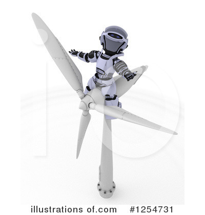 Wind Turbine Clipart #1254731 by KJ Pargeter