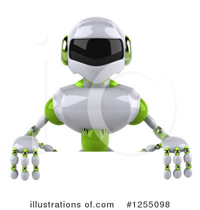 White And Green Robot Clipart #1255098 by Julos