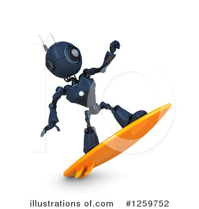 Surfer Clipart #1259752 by KJ Pargeter