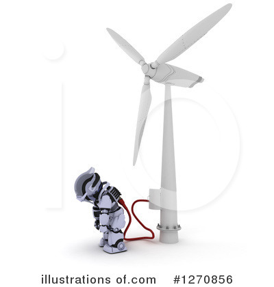 Wind Turbine Clipart #1270856 by KJ Pargeter