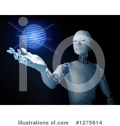 Royalty-Free (RF) Robot Clipart Illustration by Mopic - Stock Sample #1275614