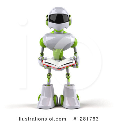 White And Green Robot Clipart #1281763 by Julos