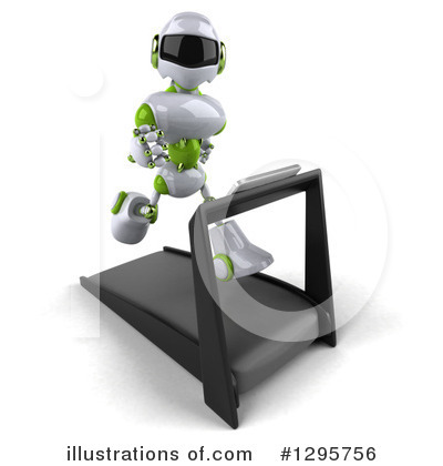White And Green Robot Clipart #1295756 by Julos