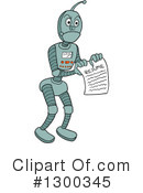 Robot Clipart #1300345 by LaffToon