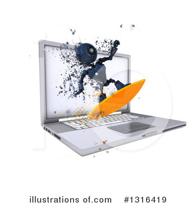 Laptop Clipart #1316419 by KJ Pargeter