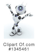 Royalty-Free (RF) Robot Clipart Illustration #1345461