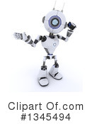 Royalty-Free (RF) Robot Clipart Illustration #1345494
