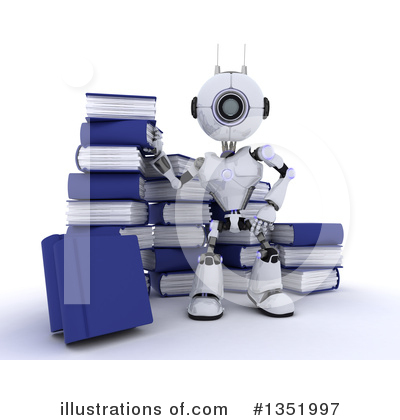 Robot Clipart #1351997 by KJ Pargeter