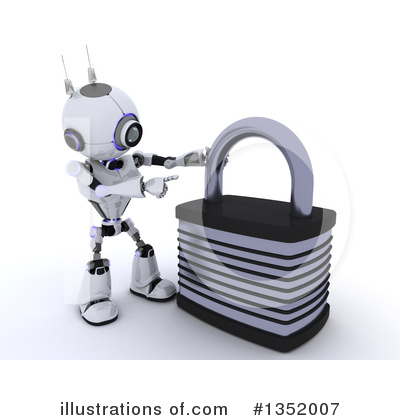 Royalty-Free (RF) Robot Clipart Illustration by KJ Pargeter - Stock Sample #1352007