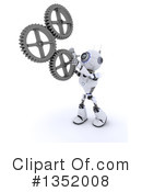 Royalty-Free (RF) Robot Clipart Illustration #1352008