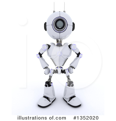 Robot Clipart #1352020 by KJ Pargeter