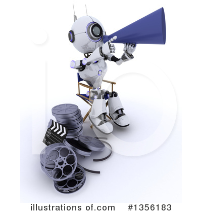 Royalty-Free (RF) Robot Clipart Illustration by KJ Pargeter - Stock Sample #1356183