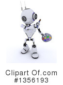 Royalty-Free (RF) Robot Clipart Illustration #1356193
