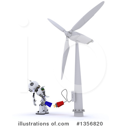 Wind Turbine Clipart #1356820 by KJ Pargeter