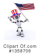 Royalty-Free (RF) Robot Clipart Illustration #1358706