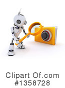 Royalty-Free (RF) Robot Clipart Illustration #1358728