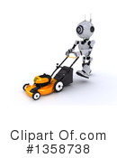 Robot Clipart #1358738 by KJ Pargeter