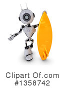 Royalty-Free (RF) Robot Clipart Illustration #1358742