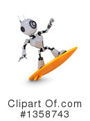 Royalty-Free (RF) Robot Clipart Illustration #1358743