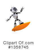 Royalty-Free (RF) Robot Clipart Illustration #1358745