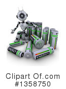 Royalty-Free (RF) Robot Clipart Illustration #1358750