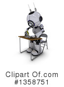 Royalty-Free (RF) Robot Clipart Illustration #1358751