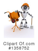Royalty-Free (RF) Robot Clipart Illustration #1358752