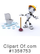 Royalty-Free (RF) Robot Clipart Illustration #1358753