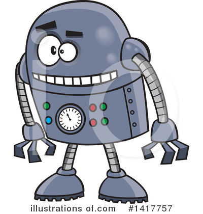 Robot Clipart #1417757 by toonaday