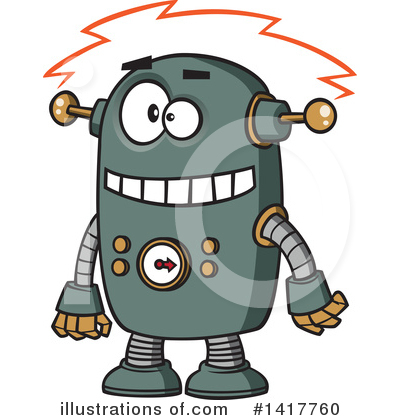 Robot Clipart #1417760 by toonaday