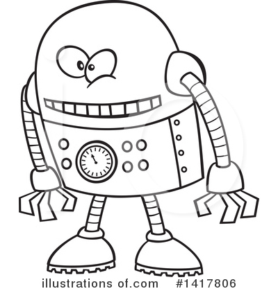 Robot Clipart #1417806 by toonaday