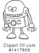 Royalty-Free (RF) Robot Clipart Illustration #1417806