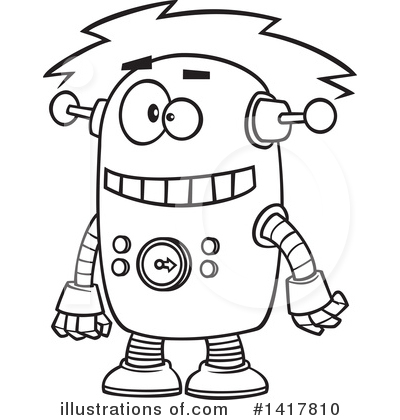 Robot Clipart #1417810 by toonaday