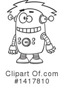 Royalty-Free (RF) Robot Clipart Illustration #1417810