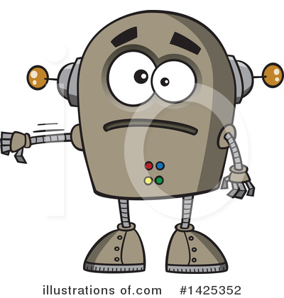 Royalty-Free (RF) Robot Clipart Illustration by toonaday - Stock Sample #1425352