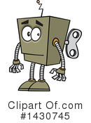 Royalty-Free (RF) Robot Clipart Illustration #1430745