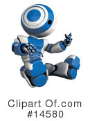 Royalty-Free (RF) robot Clipart Illustration #14580