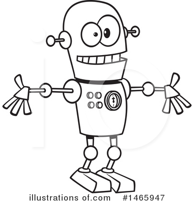 Robot Clipart #1465947 by toonaday