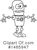 Royalty-Free (RF) Robot Clipart Illustration #1465947