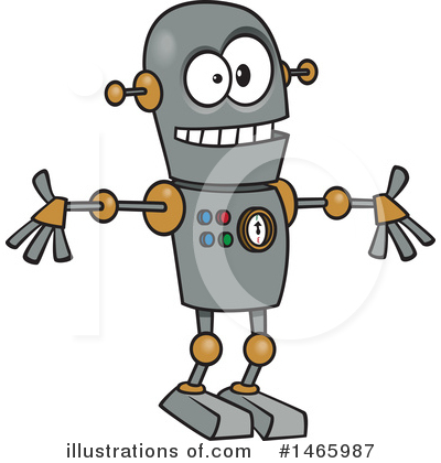 Robot Clipart #1465987 by toonaday
