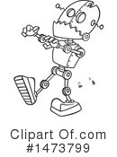 Royalty-Free (RF) Robot Clipart Illustration #1473799