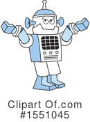 Robot Clipart #1551045 by Johnny Sajem