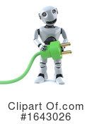 Robot Clipart #1643026 by Steve Young