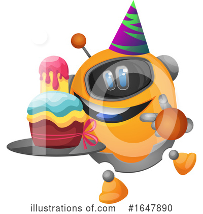 Royalty-Free (RF) Robot Clipart Illustration by Morphart Creations - Stock Sample #1647890