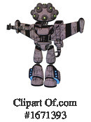 Robot Clipart #1671393 by Leo Blanchette